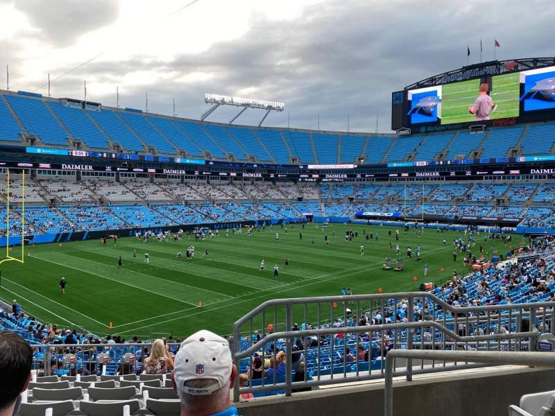 Seating view for Bank of America Stadium Section 323 Row 9 Seat 1