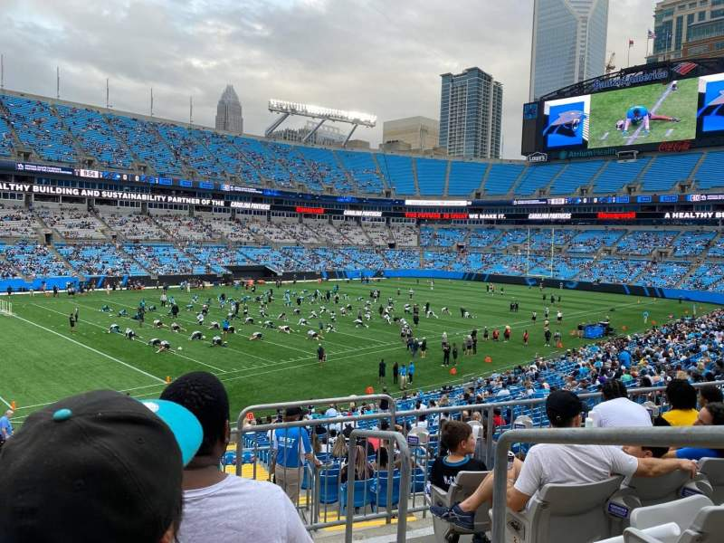 Seating view for Bank of America Stadium Section 350 Row 5 Seat 1