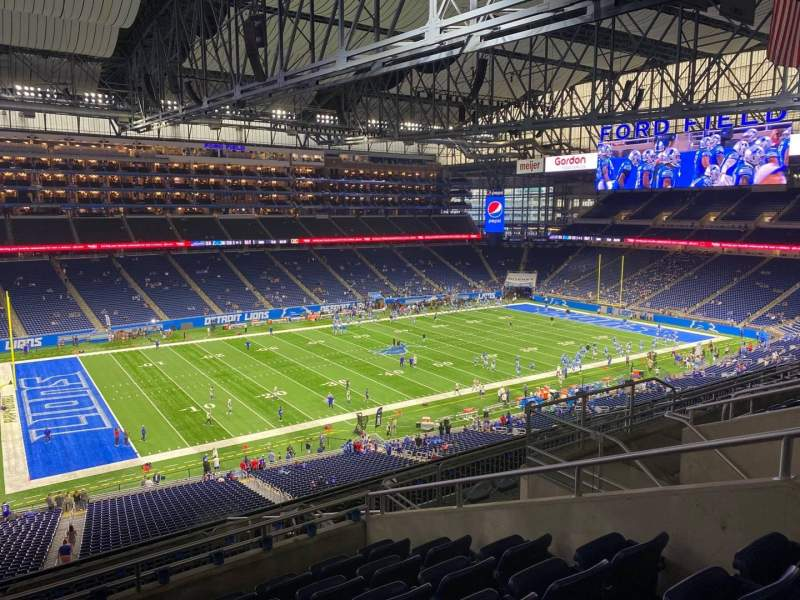 Seating view for Ford Field Section 327 Row 7 Seat 12