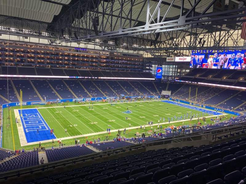 Seating view for Ford Field Section 327 Row 11 Seat 3