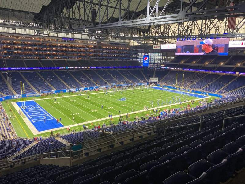 Seating view for Ford Field Section 326 Row 12 Seat 12