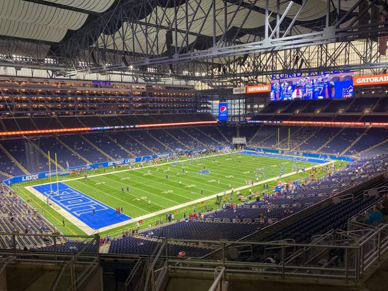 Seating view for Ford Field Section 325 Row 8 Seat 10