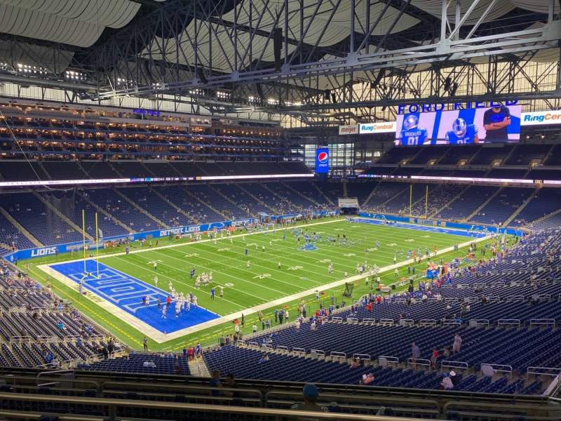 Seating view for Ford Field Section 324 Row 4 Seat 21