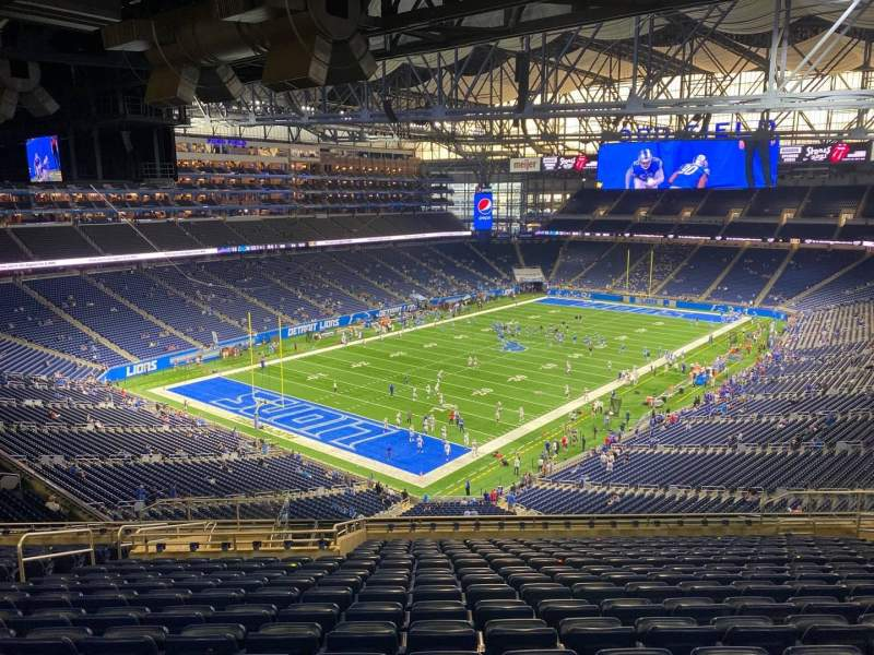 Seating view for Ford Field Section 322 Row 17 Seat 11