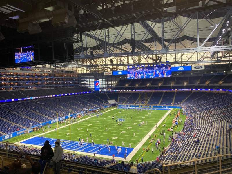 Seating view for Ford Field Section 321 Row 7 Seat 17