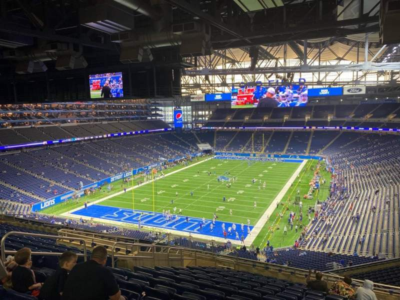 Seating view for Ford Field Section 321 Row 14 Seat 9