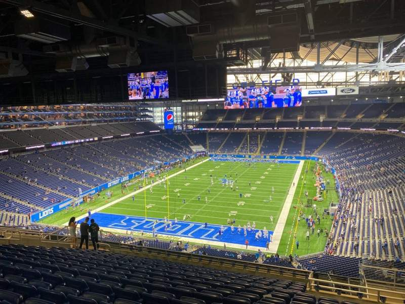 Seating view for Ford Field Section 320 Row 15 Seat 21