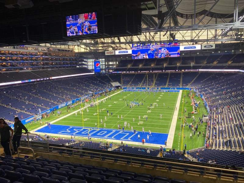 Seating view for Ford Field Section 320 Row 8 Seat 14
