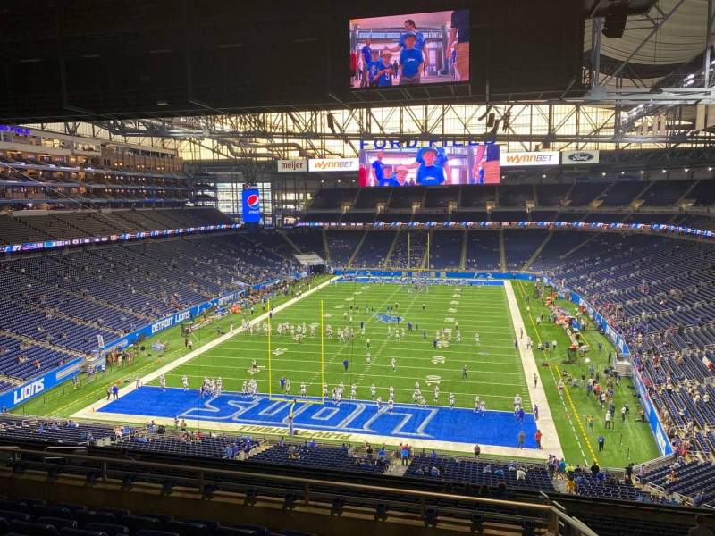 Seating view for Ford Field Section 319 Row 7 Seat 19