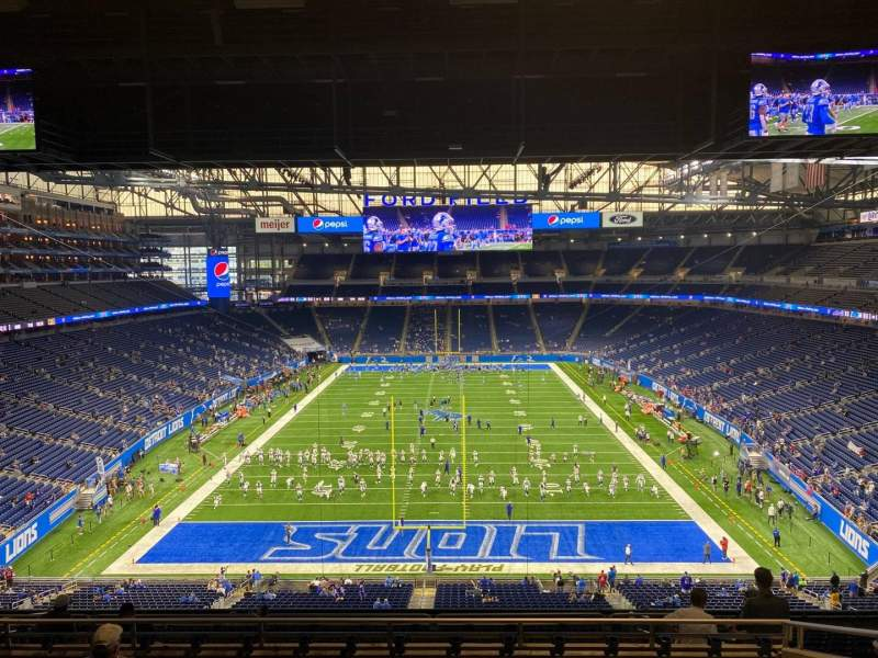 Seating view for Ford Field Section 318 Row 8 Seat 14