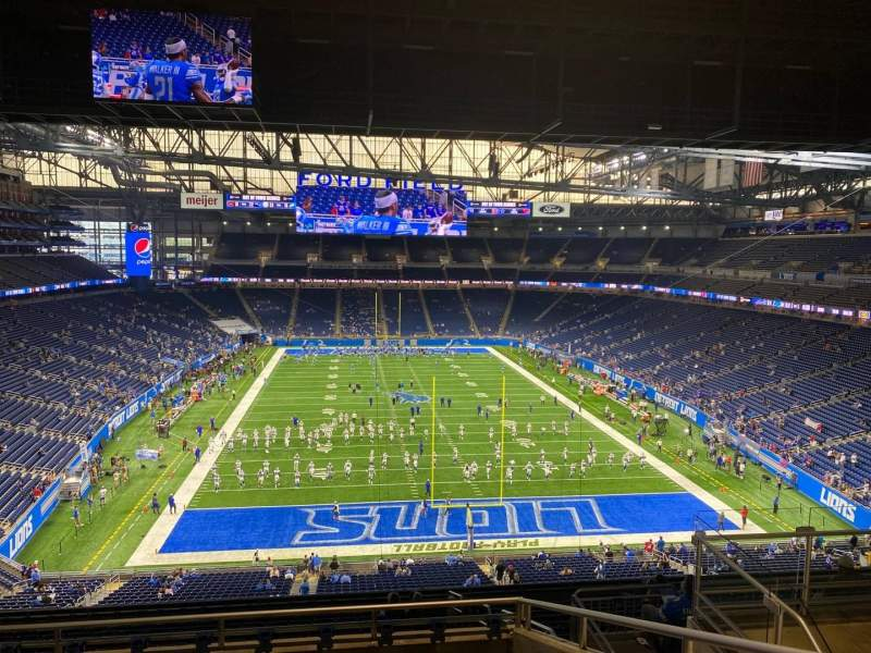 Seating view for Ford Field Section 317 Row 7 Seat 17