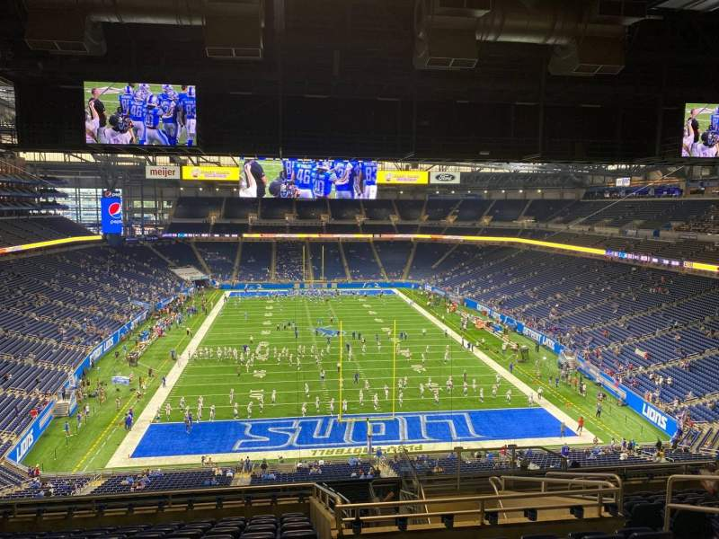 Seating view for Ford Field Section 317 Row 12 Seat 19