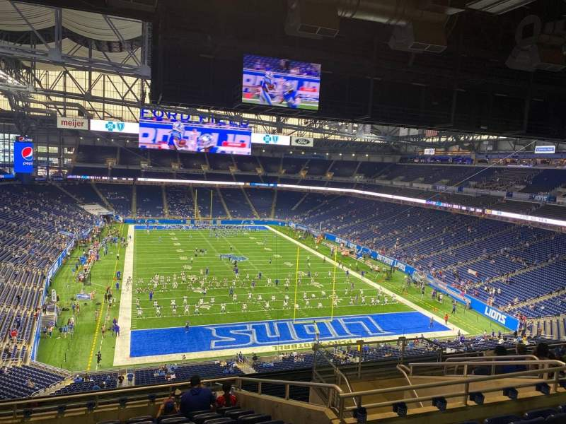 Seating view for Ford Field Section 316 Row 10 Seat 16