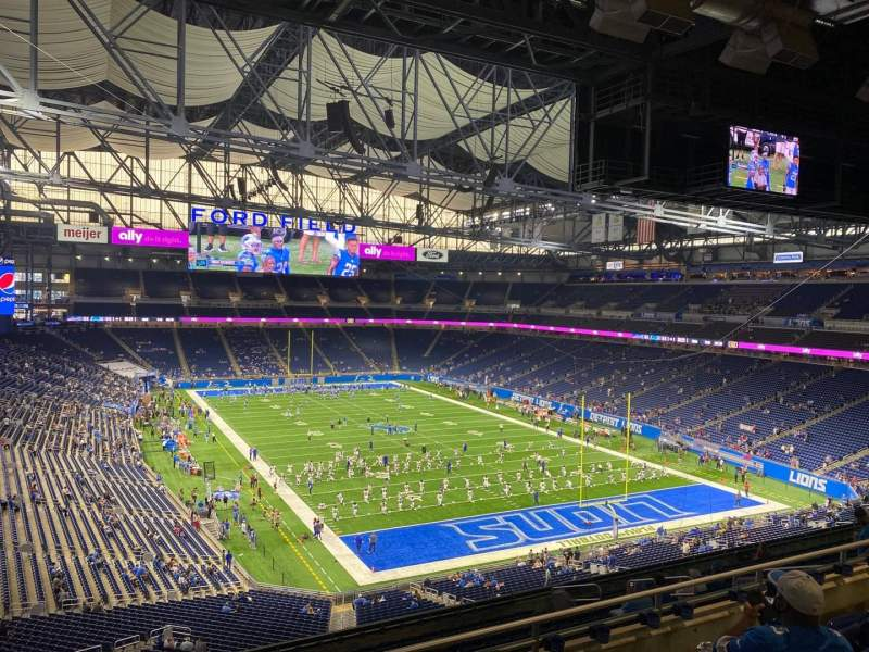 Seating view for Ford Field Section 315 Row 5 Seat 10