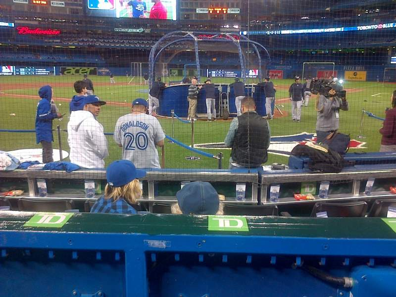 Seating view for Rogers Centre Section 123R Row 6 Seat 9