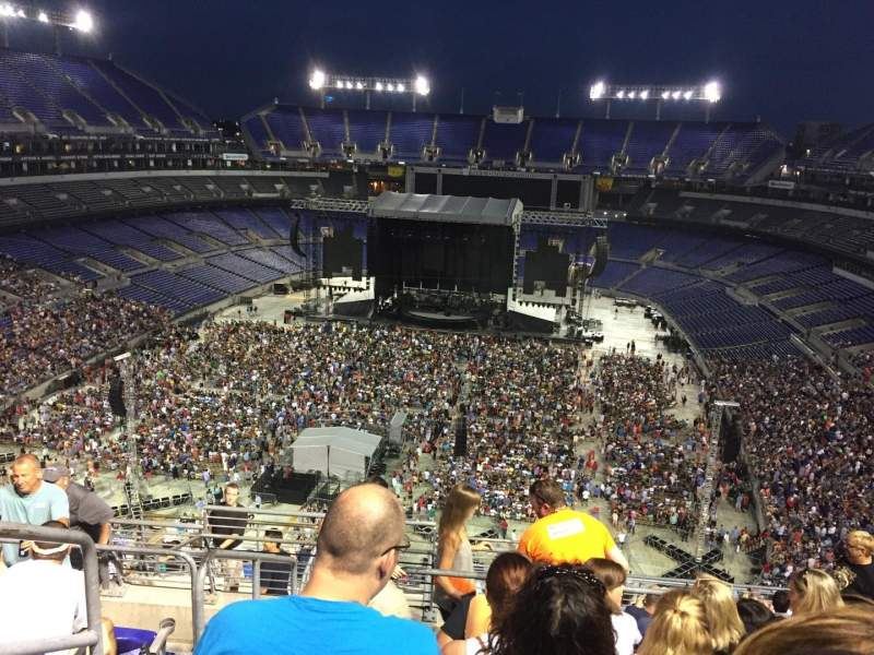 Seating view for M&T Bank Stadium Section 538 Row 14 Seat 23