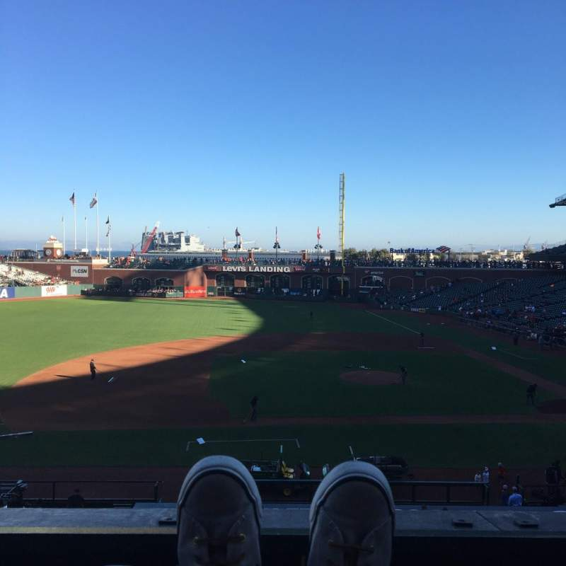 Seating view for AT&T Park Section 223 Row A Seat 2