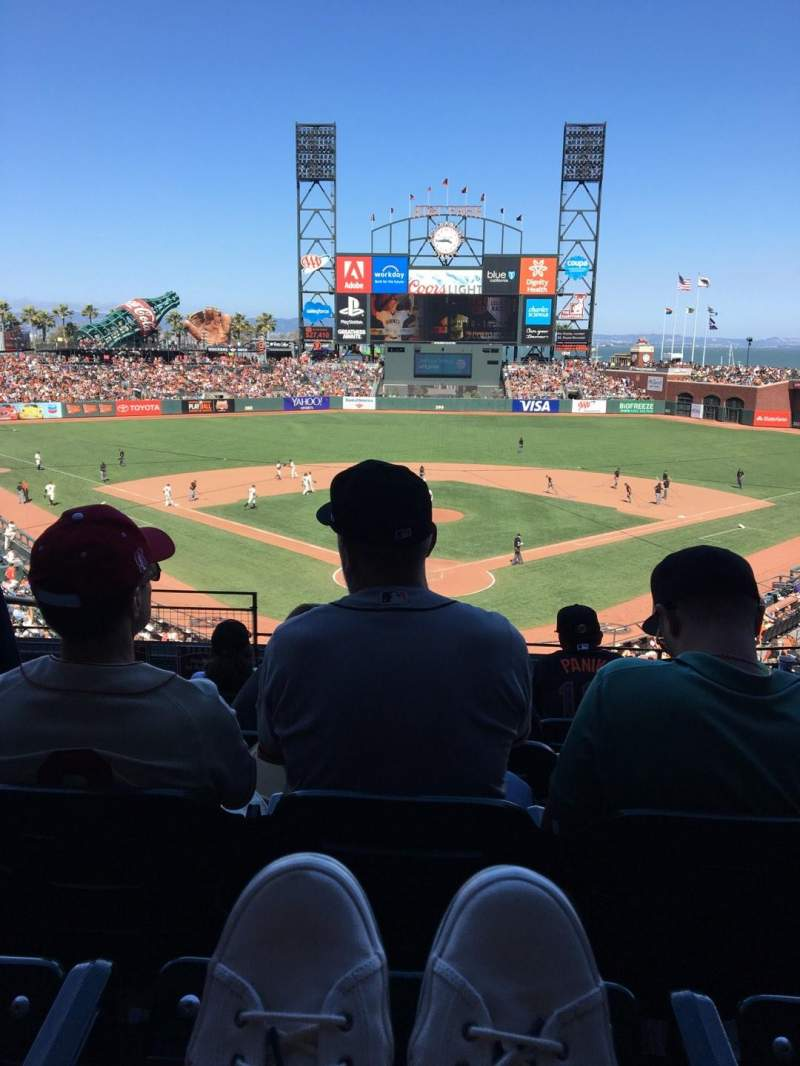 Seating view for Oracle Park Section 215 Row G Seat 11