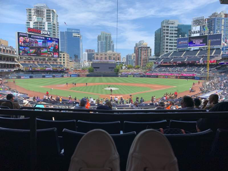 Seating view for PETCO Park Section PCF Row 12 Seat 7