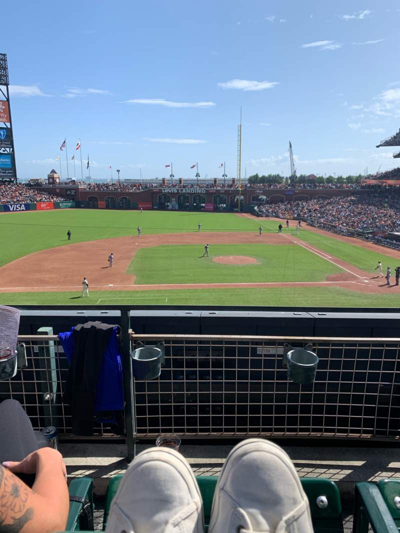 Seating view for Oracle Park Section 222 Row B Seat 10