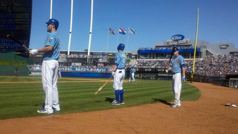 Seating view for Kauffman Stadium Section Crown 5 Row A Seat 1