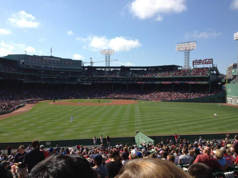 Seating view for Fenway Park Section Bleacher 42 Row 33 Seat 25