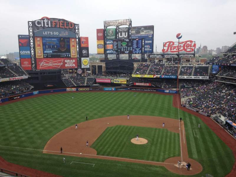 Seating view for Citi Field Section 519 Row 1 Seat 8
