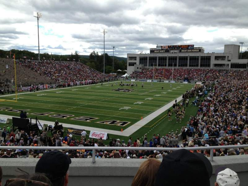 Seating view for Michie Stadium Section 19 Row KK Seat 23