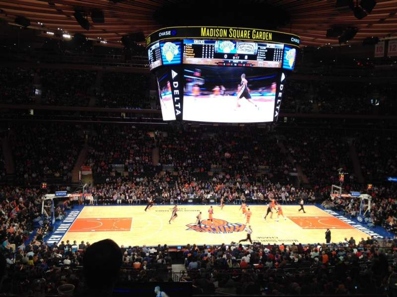 Madison Square Garden Section Suite 45 Seat 5 New York Knicks Vs San Antonio Spurs Shared