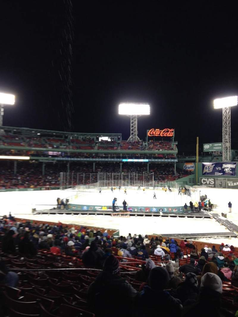 Seating view for Fenway Park Section 8 Row 1 Seat 4
