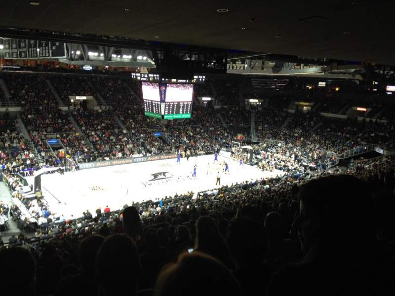 Seating view for Dunkin' Donuts Center Section 214 Row T Seat 10