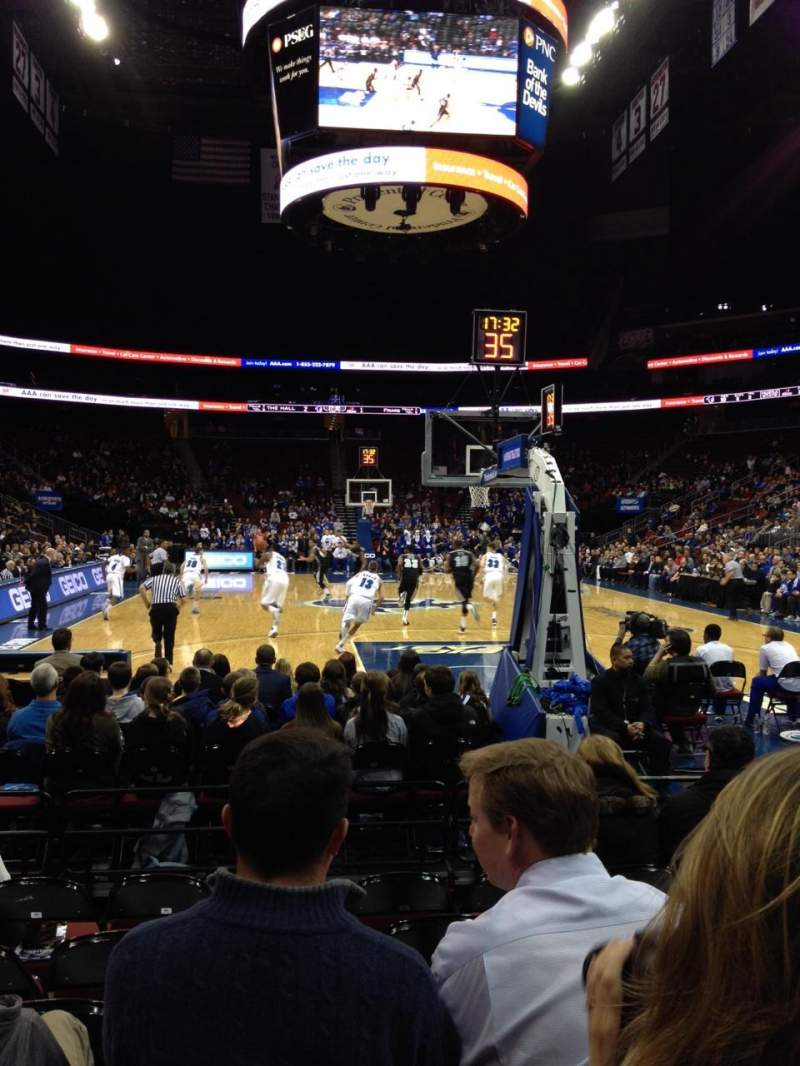 Seating view for Prudential Center Section 13F Row F Seat 5