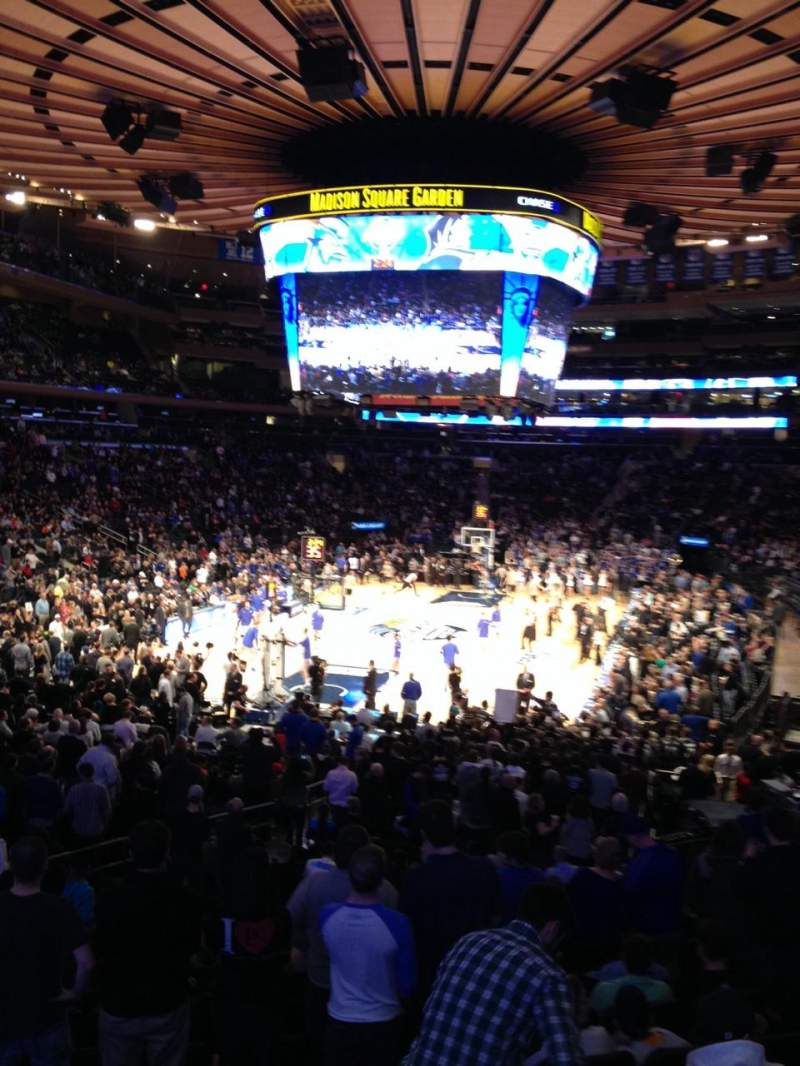 Seating view for Madison Square Garden Section 113 Row 17 Seat 10