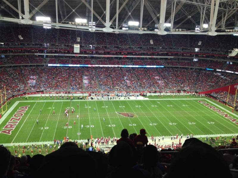Seating view for University Of Phoenix Stadium Section 415 Row 19 Seat 4