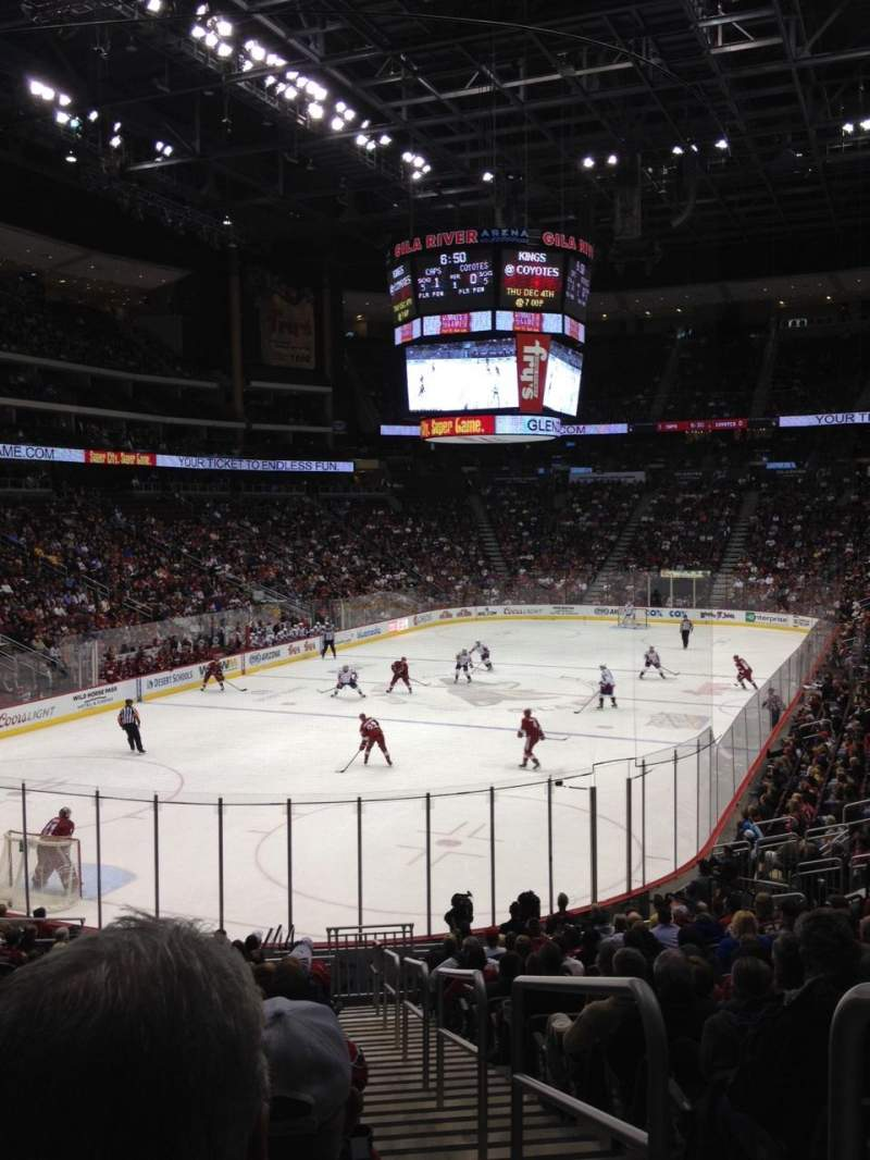Seating view for Gila River Arena Section 116 Row T Seat 1