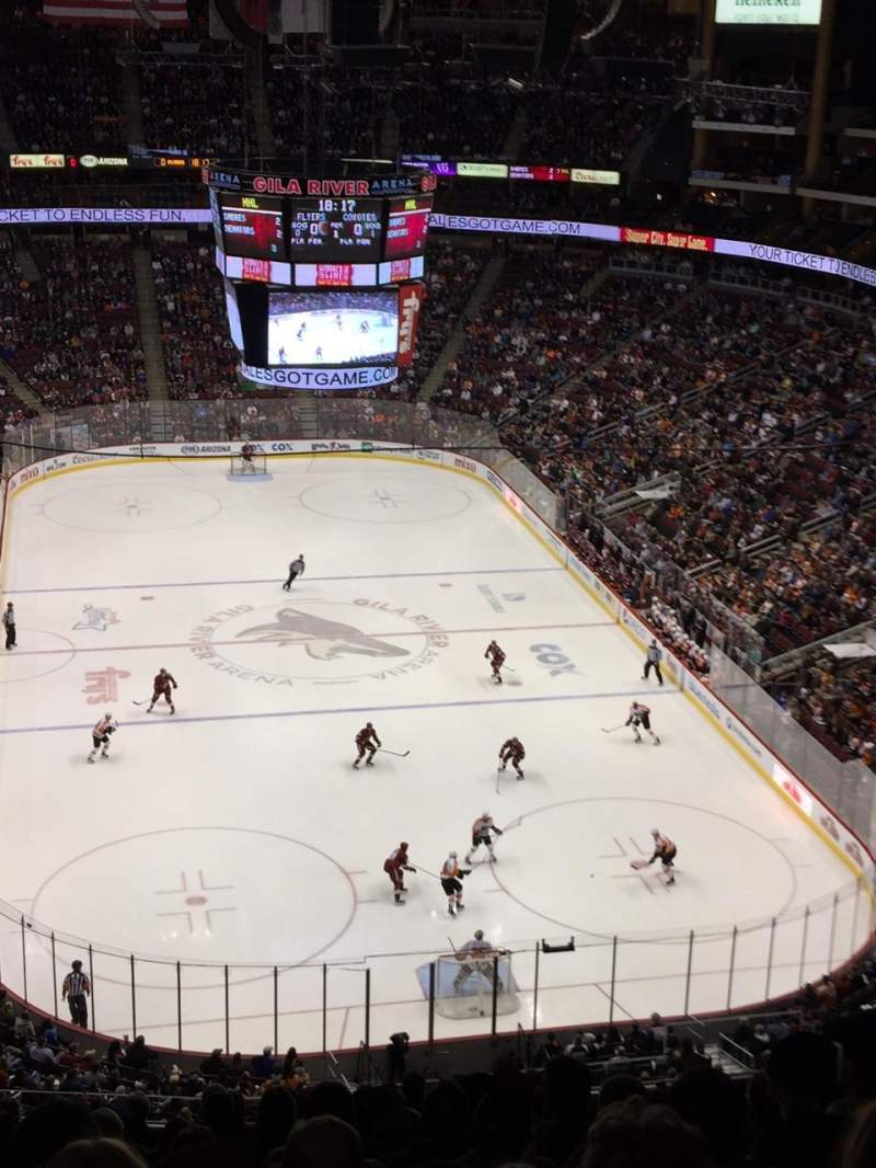 Seating view for Gila River Arena Section 209 Row N Seat 10