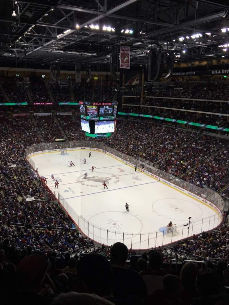 Gila River Arena, section: 226, row: K, seat: 3