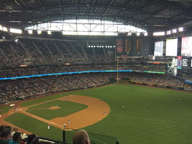 Seating view for Chase Field Section 304 Row 13 Seat 16