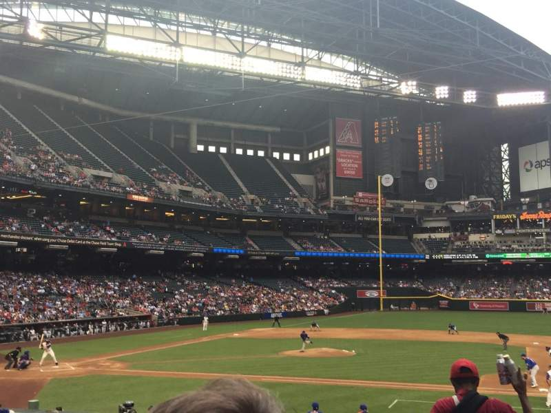 Seating view for Chase Field Section 116 Row 23 Seat 6