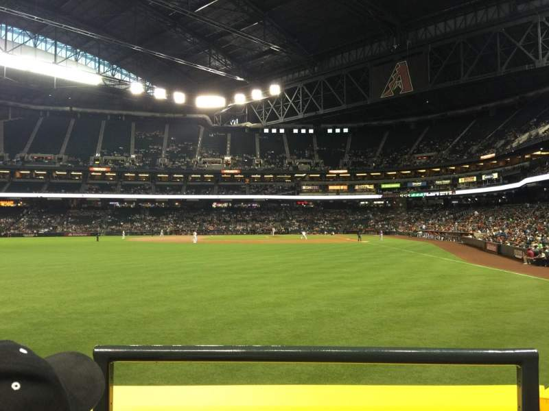 Seating view for Chase Field Section 139 Row 12 Seat 1