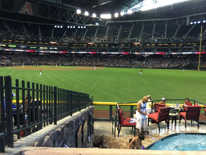 Seating view for Chase Field Section 101 Row 22 Seat 2