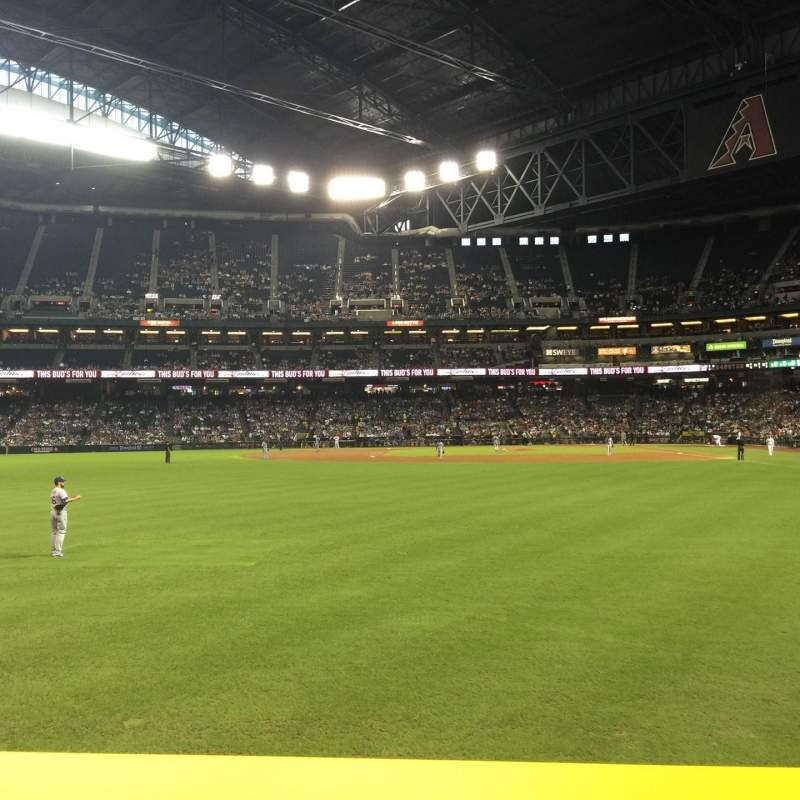 Seating view for Chase Field Section 140 Row 12 Seat 17