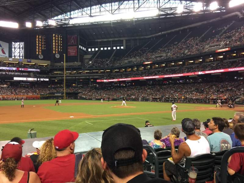 Seating view for Chase Field Section Q Row 11 Seat 2