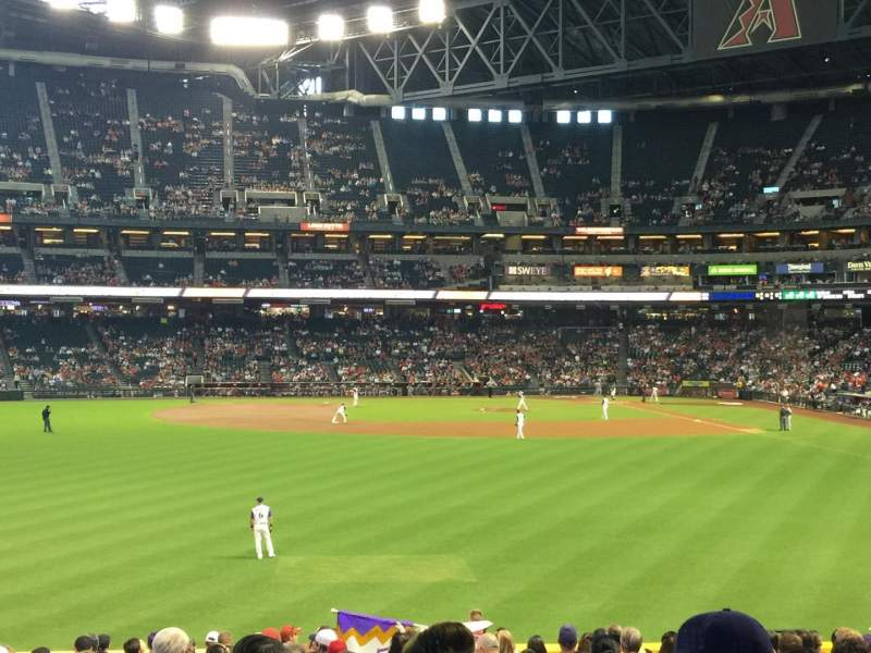 Seating view for Chase Field Section 141 Row 32 Seat 12