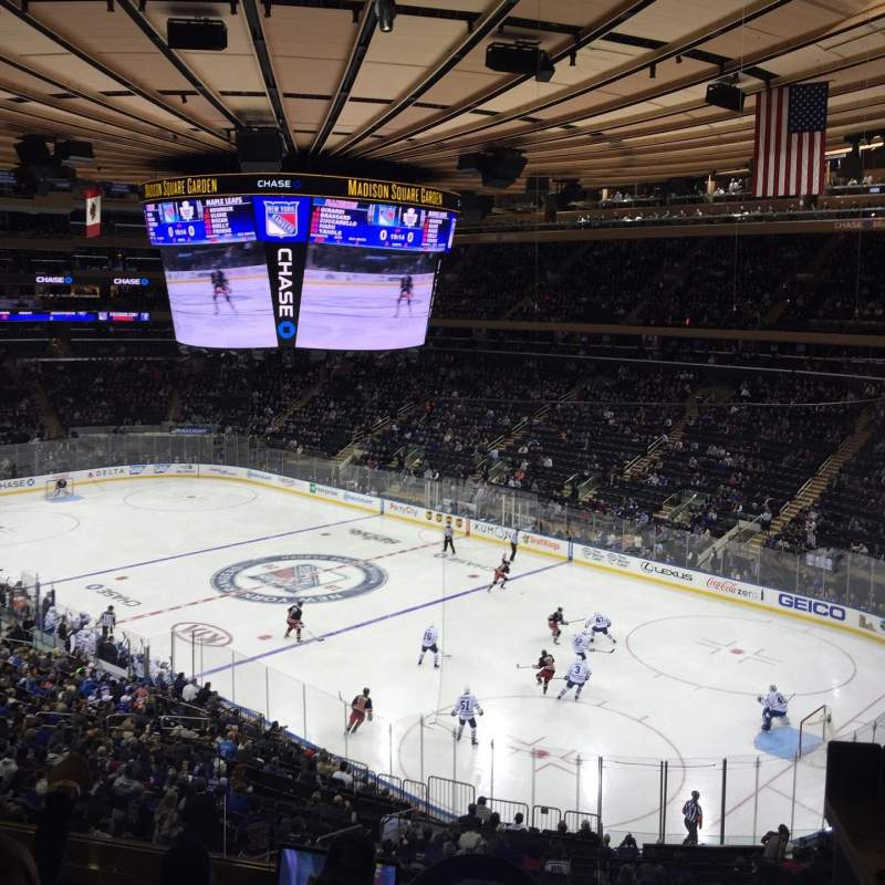 Madison Square Garden Section 215 Accueil De New York Rangers New York Knicks St John 39 S Red