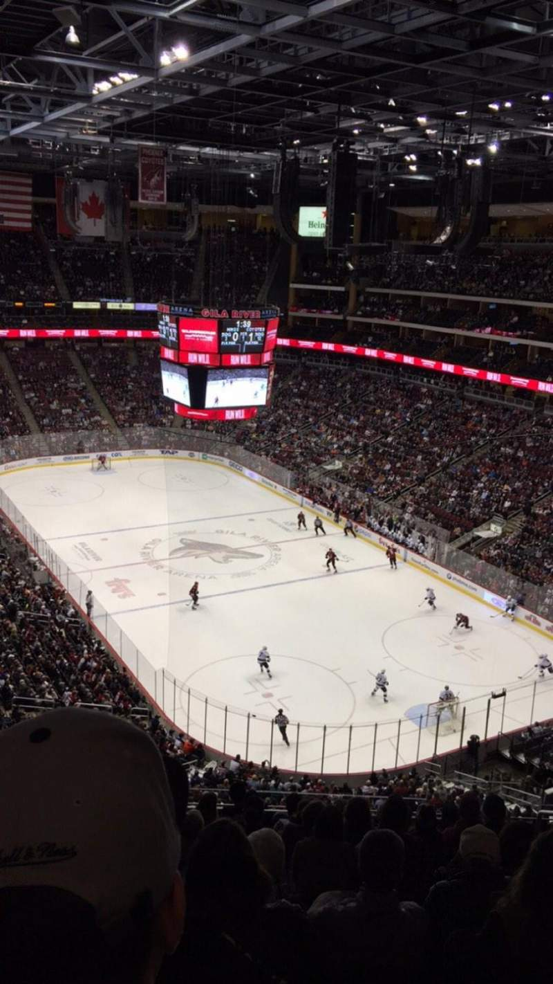 Seating view for Gila River Arena Section 210 Row J Seat 5