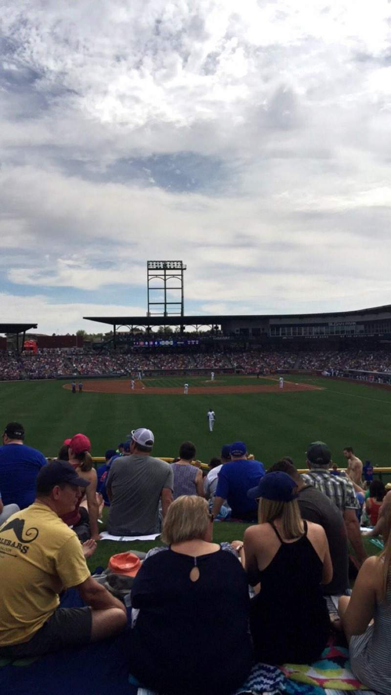 Seating view for Sloan Park Section Lawn