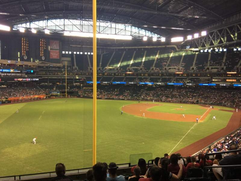 Seating view for Chase Field Section 222 Row 10 Seat 6