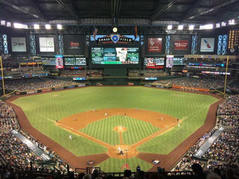 Seating view for Chase Field Section 316 Row 18 Seat 20