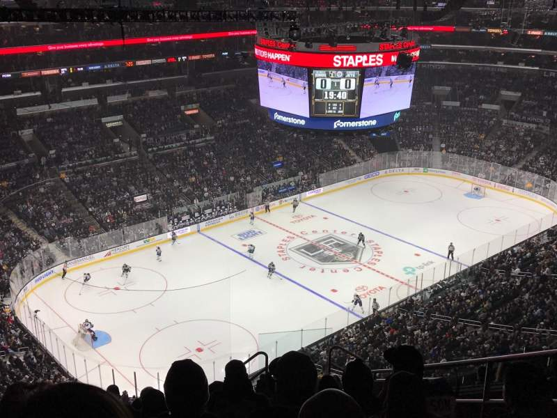 Seating view for Staples Center Section 322 Row 12 Seat 6